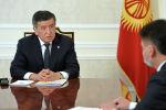 Коопсуздук кеңешинин качысы Дамир Сагынбаевди президент Сооронбай Жээнбеков кабыл алуу учурунда