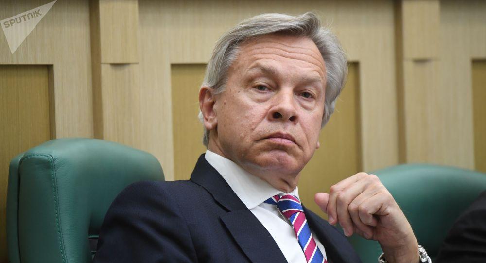 Сенатор, член комитета Совета Федерации по конституционному законодательству и государственному строительству Алексей Пушков. Архивное фото