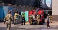 Бишкектеги Садырбаев көчөсүндөгү күйүүчү май сактоочу кампадагы өрттү кесепети