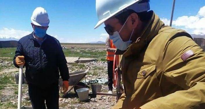 Строительство домов в Ошской области для памирских кыргызов