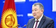 Саламаттык сактоо министринин орун басары Нурболот Үсөнбаев. Архив