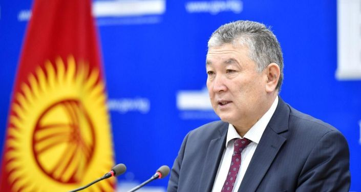 Заместитель министра здравоохранения Нурболот Усенбаев на брифинге Минздрава КР. 23 мая 2020 года