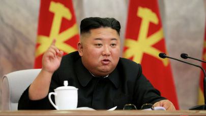 Северокорейский лидер Ким Чен Ын выступает на конференции Центрального военного комитета Рабочей партии Кореи. 23 мая 2020 года.