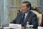 Экс-спикер Жогорку Кенеша Мукар Чолпонбаев на встрече с президентом Кыргызской Республики Сооронбаем Жээнбековым. 20 ноября 2019 года