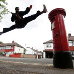 Team GB taekwondo athlete Lutalo Muhammad trains at his home in Walthamstow, following the outbreak of the coronavirus disease (COVID-19), London, Britain, May 24, 2020. REUTERS/Paul Childs     TPX IMAGES OF THE DAY