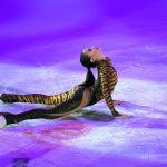 Алина Загитова во время показательных выступлений на чемпионате Европы по фигурному катанию в Москве