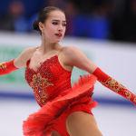 Алина Загитова на чемпионате Европы по фигурному катанию в Москве