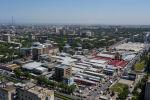 Вид с высоты на рыночный комплекс Орто-Сайский, находящийся в 7-ом микрорайоне Бишкека