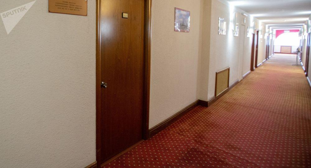 Коридор гостиницы. Архивное фото