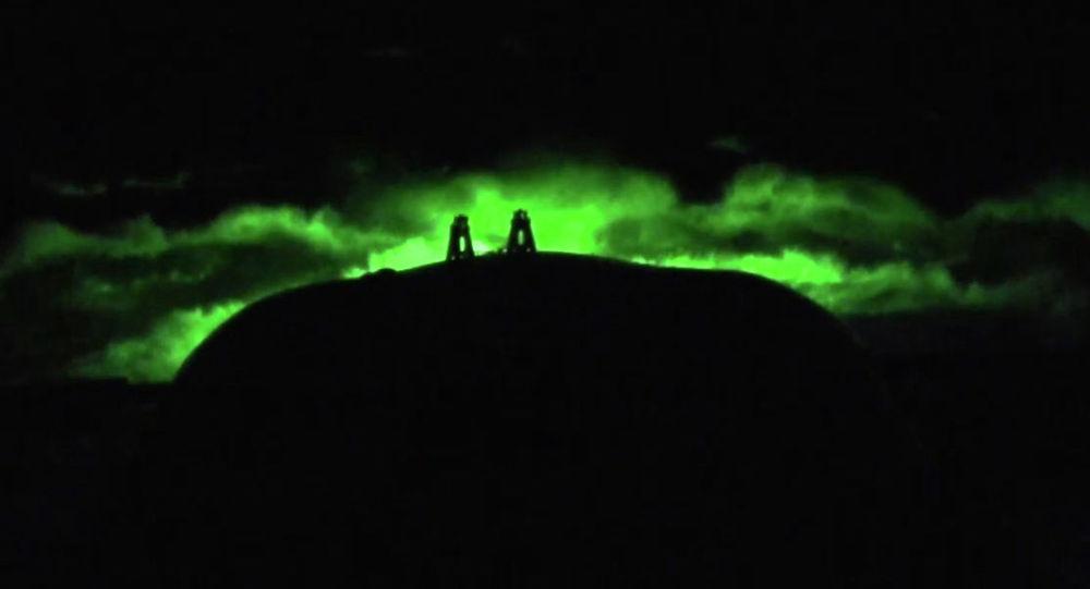 Во время испытания подводной лодки — носителя беспилотного комплекса Посейдон. Скриншот с видео, предоставленного министерством обороны РФ