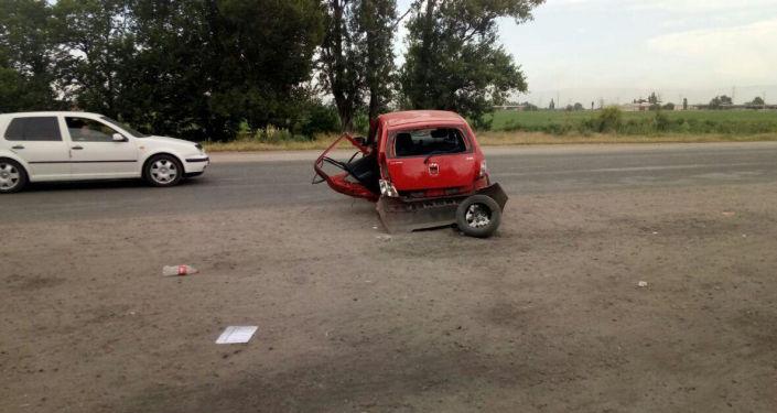 Последствия ДТП с участием автомобилей марок Honda Odyssey, ВАЗ 2107 и Hyundai в Канте