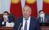 Первый вице-премьер-министр КР Кубатбек Боронов на заседании Жогорку Кенеша