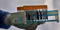 Медик коронавирус кандын үлгүлөрүн кармап турат. Архив