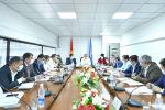 Исполняющий обязанности Премьер-министра Кыргызской Республики, первый вице-премьер-министр Кыргызской Республики Кубатбек Боронов на заседании Республиканского оперативного штаба.