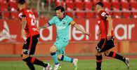 Нападающий Барселоны Лионель Месси во время матча с Мальоркой на чемпионате Испании