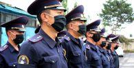 Сотрудники туристической милиции в Иссык-Кульской области во время работы. Архивное фото