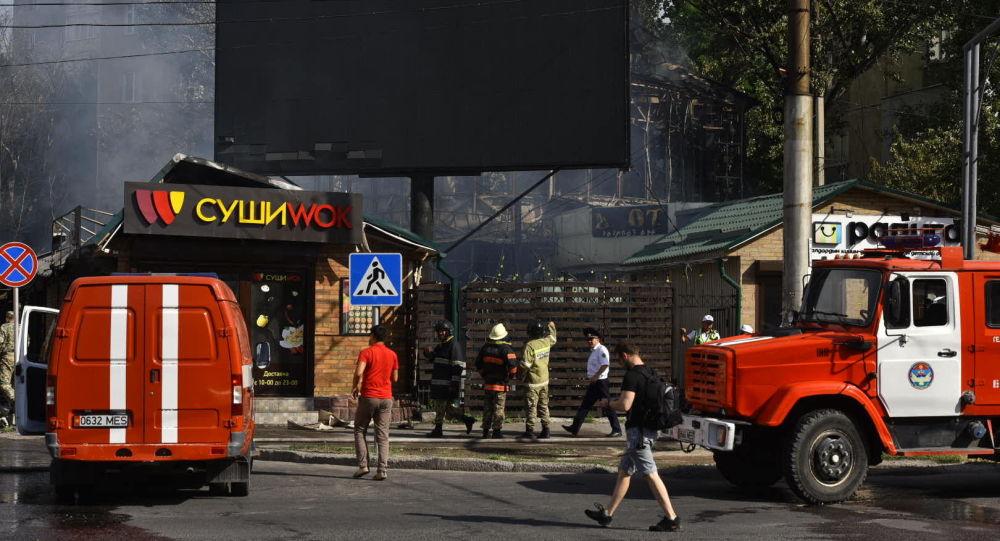 Бишкек шаарындагы 6-кичи райондон чыккан өрт