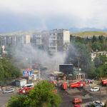 Бишкектин 6-кичи районундагы Юнусалиев менен Сухэ-Батор көчөлөрүнүн кесилишиндеги имараттан чыккан өрт өчүрүлгөндөн кийин