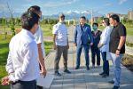 Мэр Бишкека Азиз Суракматов во время очередной утренней полевой планерки
