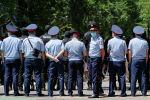 Сотрудники полиции Алматы охраняют порядок. Архивное фото