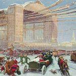Зима такая же, как и при нас, 200 лет назад. Снег такой же белый и холодный. Центральный вокзал земных и воздушных путей сообщения. Десятки тысяч приезжающих и уезжающих, все идет чрезвычайно быстро, планомерно и удобно. К услугам пассажиров земля и воздух. Желающие могут двигаться с быстротою телеграмм.