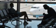 Пассажиры ожидают своего вылета в одном из терминалов в международном аэропорту Внуково. Архивное фото
