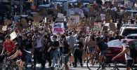 Протестующие на одной из улиц Нью-Йорка. Архивное фото