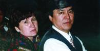 Народный артист КР, композитор, ректор Кыргызской Национальной консерватории Муратбек Бегалиев с супругой  Зеноной Слензак