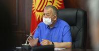 Премьер-министр Кыргызской Республики Кубатбек Боронов на внеочередном совещании Республиканского оперативного штаба.