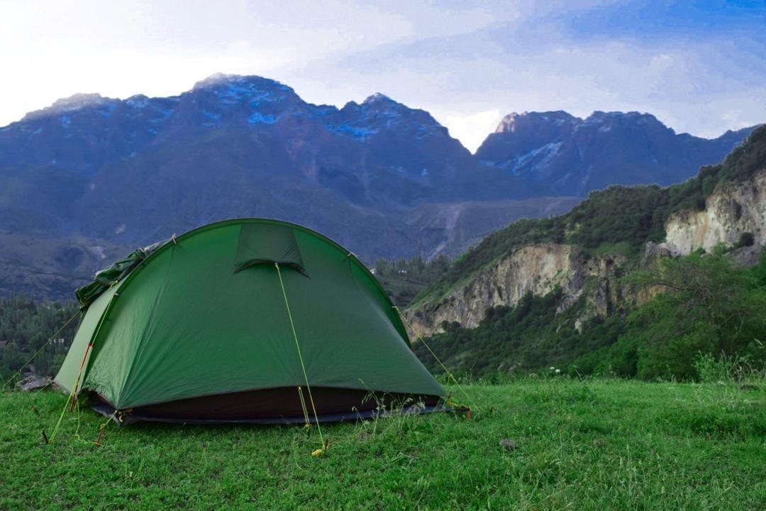 Палатка в ореховых лесах Арсланбоба