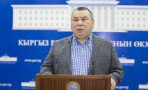 Бишкек шаарынын мээринин милдетин аткаруучу Балбак Түлөбаев. Архив