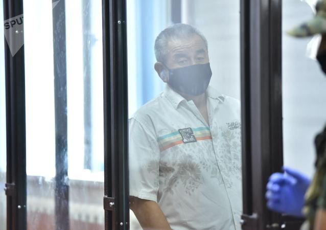 Бывший советник главы ГСИН Калыбек Качкыналиев во время вынесения приговора по делу о незаконном освобождении криминального авторитета Азиза Батукаева в Бишкеке