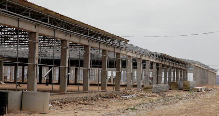 Ход строительства массива Кен-Сай в Оше
