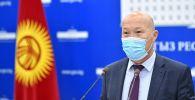 Саламаттык сактоо министринин орун басары Мадамин Каратаев. Архивдик сүрөт