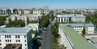Жилые дома и административные здания вдоль улиц Киевской в Бишкеке