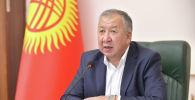 Премьер-министр Кыргызской Республики Кубатбек Боронов на совещании по итогам деятельности государственных предприятий и акционерных обществ с государственной долей участия за 2019 год и 6 месяцев текущего года.