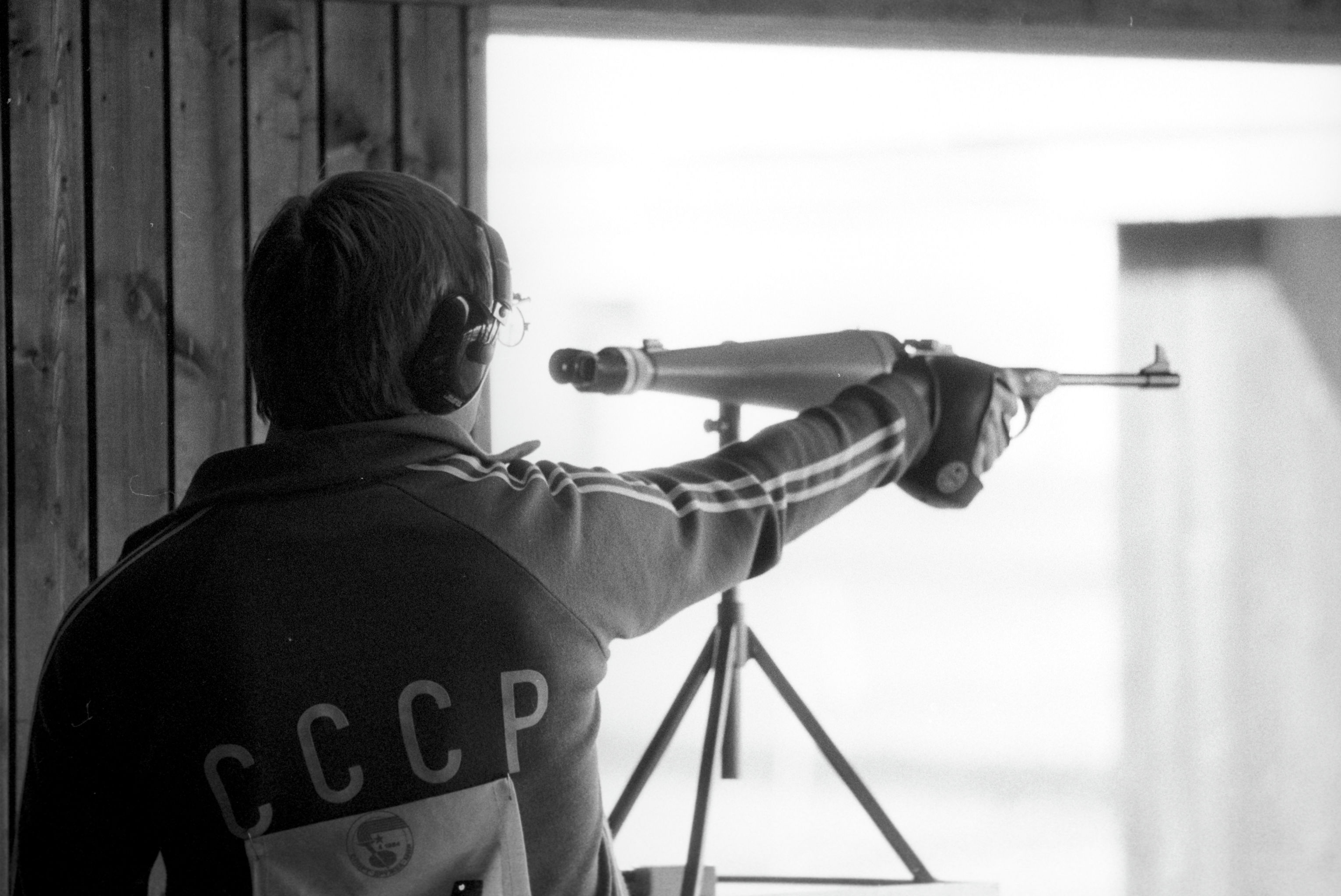 Александр Мелентьев победил в стрельбе из малокалиберного пистолета на 50 метров. Международные соревнования Дружба-84.
