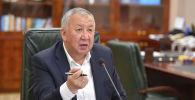 Премьер-министр Кыргызской Республики Кубатбек Боронов на заседании
