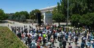 Бишкектеги Маалыматты манипуляциялоо жөнүндө мыйзам каршы митинг учурунда