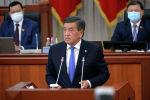 Президент Кыргызской Республики Сооронбай Жээнбеков на заседании Жогорку Кенеша