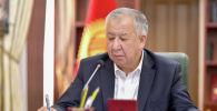 Премьер-министр КР Кубатбек Боронов на совещании по обсуждению деятельности государственных банков