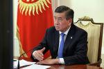 Президент Сооронбай Жээнбеков премьер-министр Кубатбек Боронов видео аркылуу азыркы абалды талкуулашты