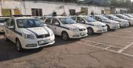 Новые машины патрульной милиции Бишкека