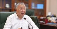 Премьер-министр Кубатбек Боронов на заседании Республиканского штаба
