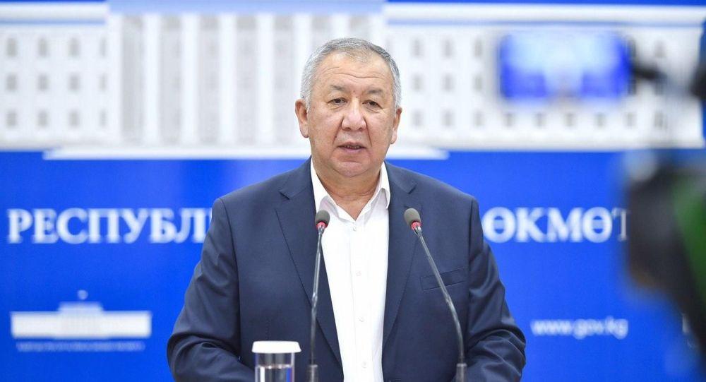 Премьер-министр КР Кубатбек Боронов. Архивдик сүрөт