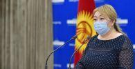 Начальник Управления общественного здравоохранения Минздрава Айнура Акматова