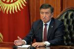 Президент Сооронбай Жээнбеков онлайн кеңешме өткөрүп жатат