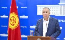 Премьер-министр КР Кубатбек Боронов брифинг учурунда