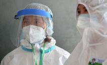 Медики одного из дневных стационаров в Бишкеке