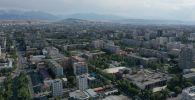 Вид с высоты на жилые дома на пересечение улиц Правды и Киевской. Архивное фото